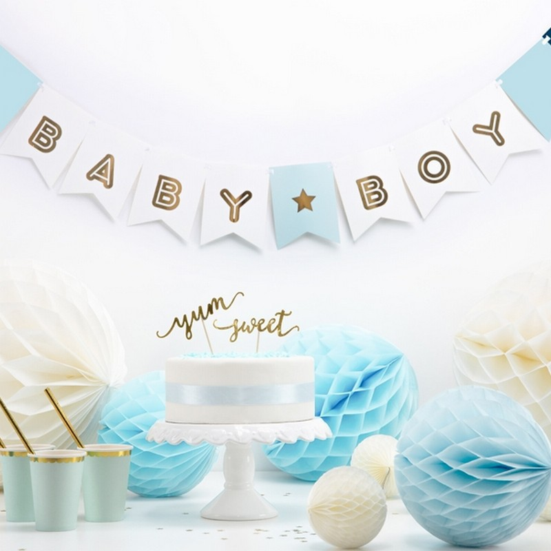 Baner Baby Boy na Baby Shower dla chłopca