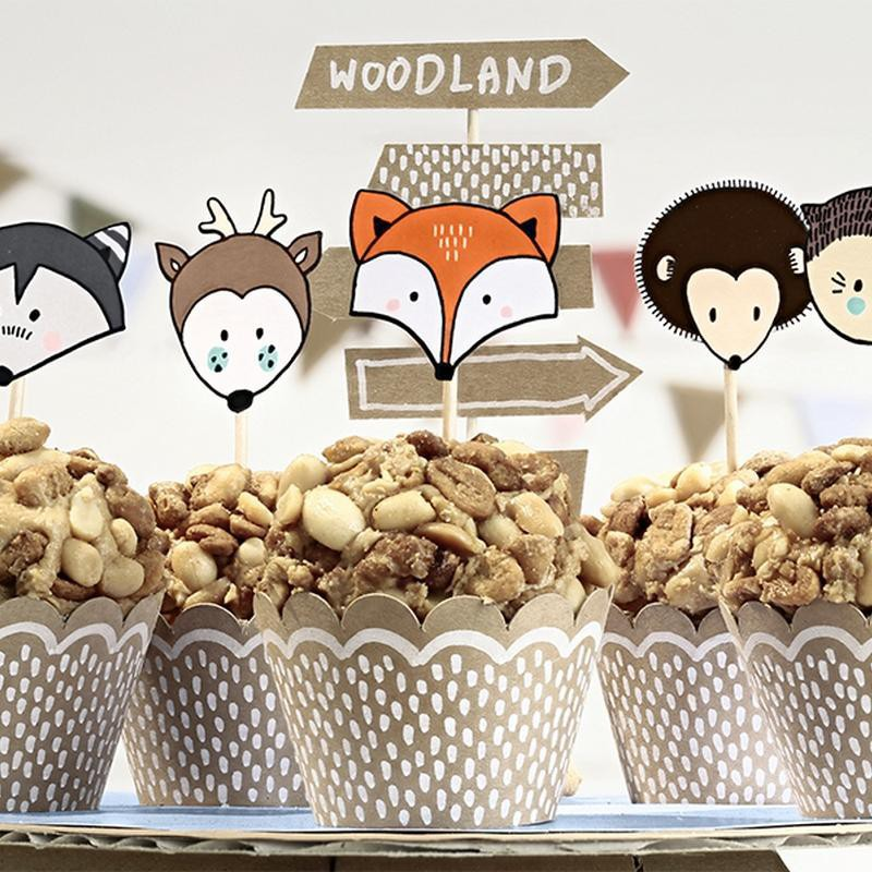 Foremki i pikery na muffinki Liski dla dzieci na urodziny dzieci