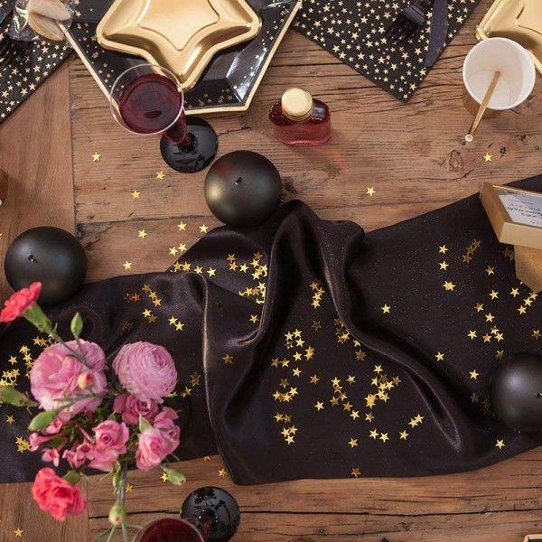 andrzejki-dekoracje-stol-bieznik-satynowy-czarny