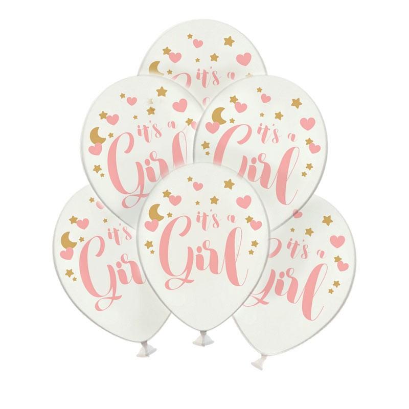 Balony na Baby Shower dziewczynki w kolorze różowym