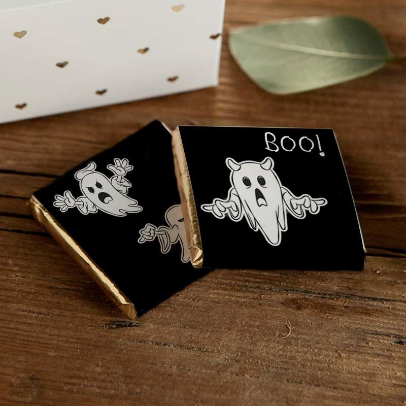 Mleczne czekoladki na Halloween z duchami