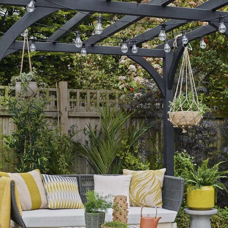Girlanda z żarówek led do dekoracji ogrodu, tarasu i balkonu
