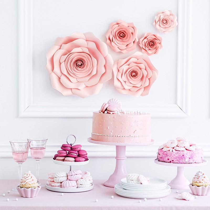 Dekoracja weselna pudrowe kwiaty