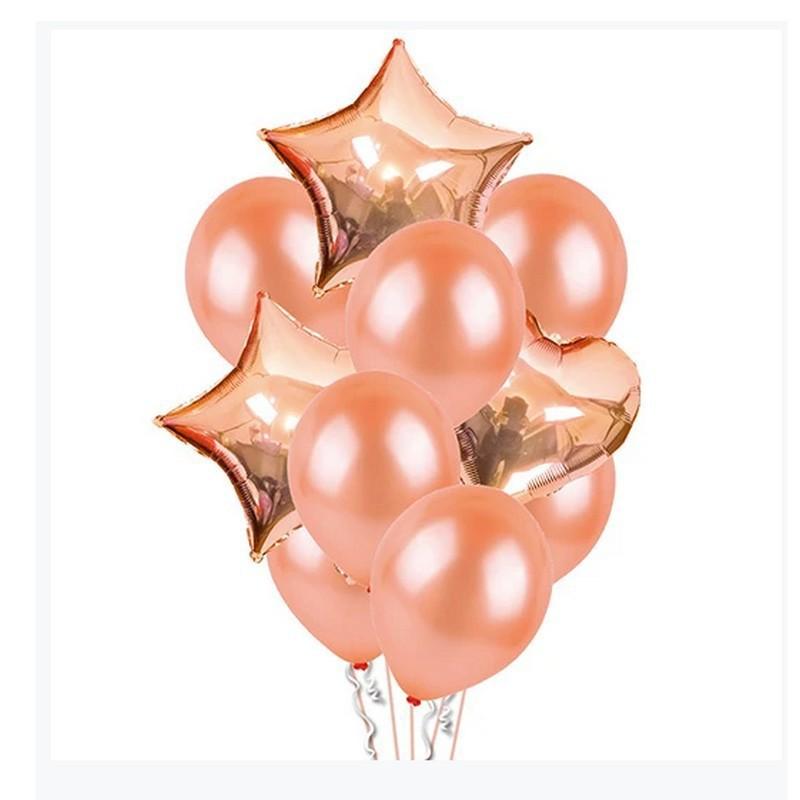 Zestaw dekoracji na Baby Shower rosegold