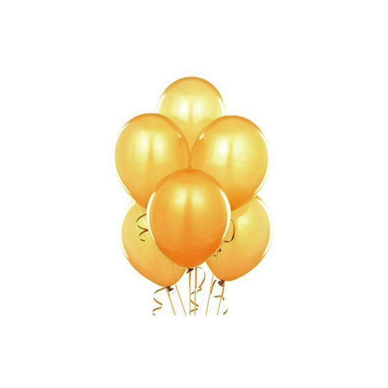 Złote metaliczne balony na imprezę halloweenową