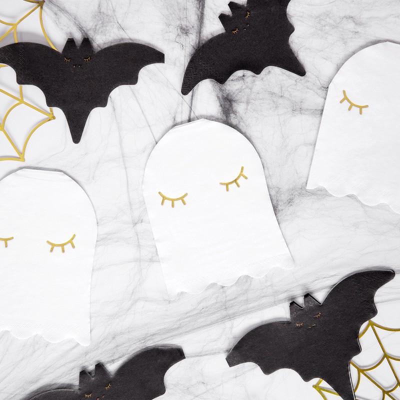 Serwetki duszki do dekoracji stołu na przyjęcie halloweenowe