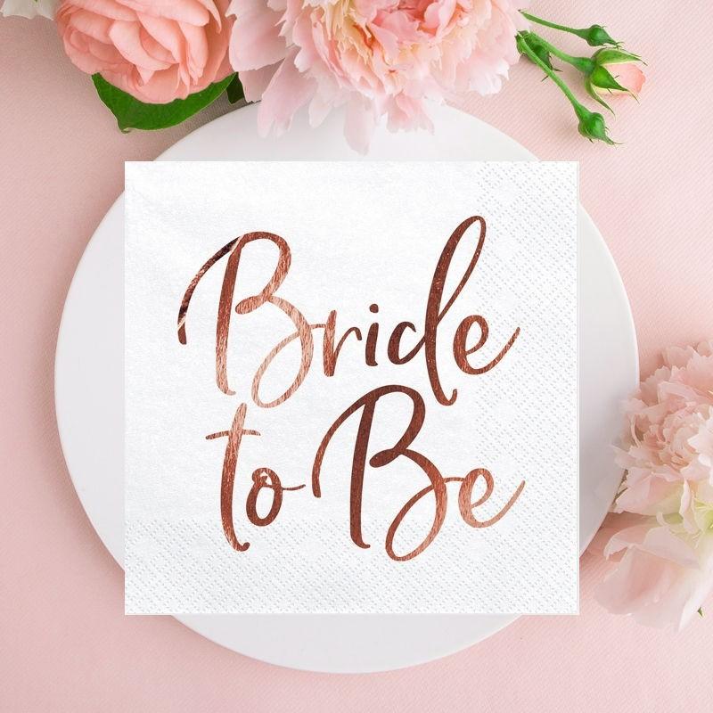 Serwetki na panieński z napisem Bride to Be