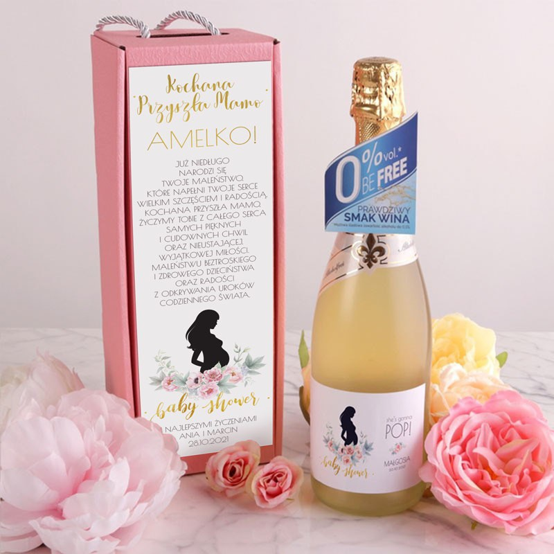 Wino bezalkoholowe na Baby Shower